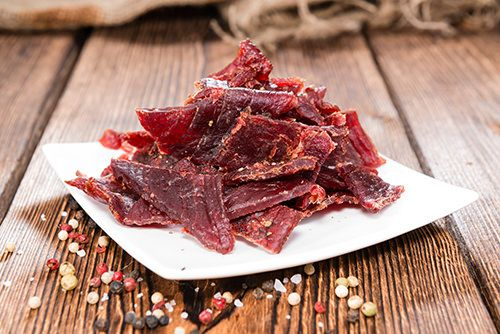 BBQ Style Beef Jerky, because every man needs their own beef jerky recipe. Step by step guide to making beef jerky in a dehydrator, plus a giveaway!