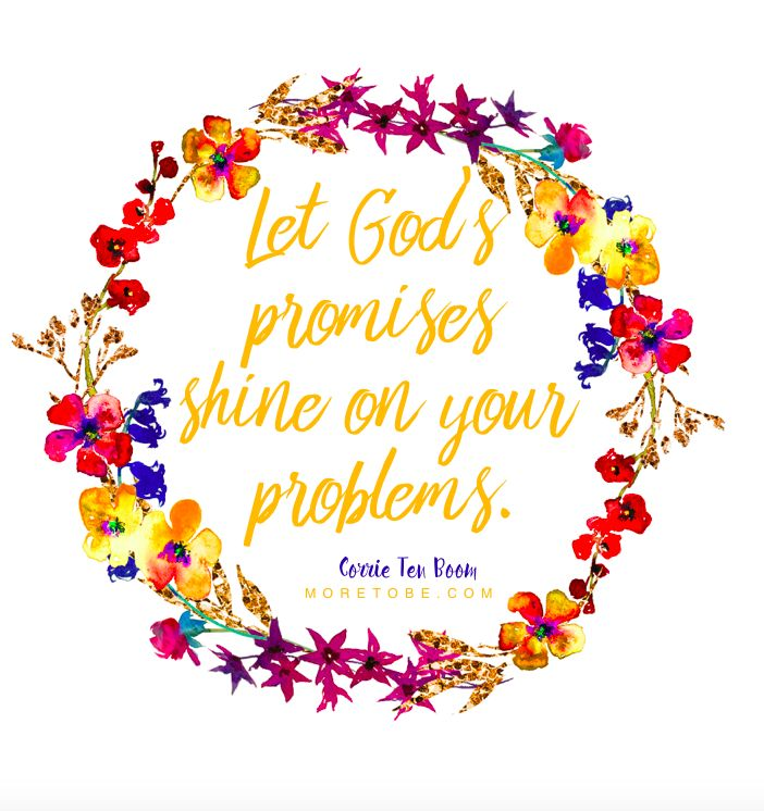 Let God's promises shine on your problems. - Corrie Ten Boom