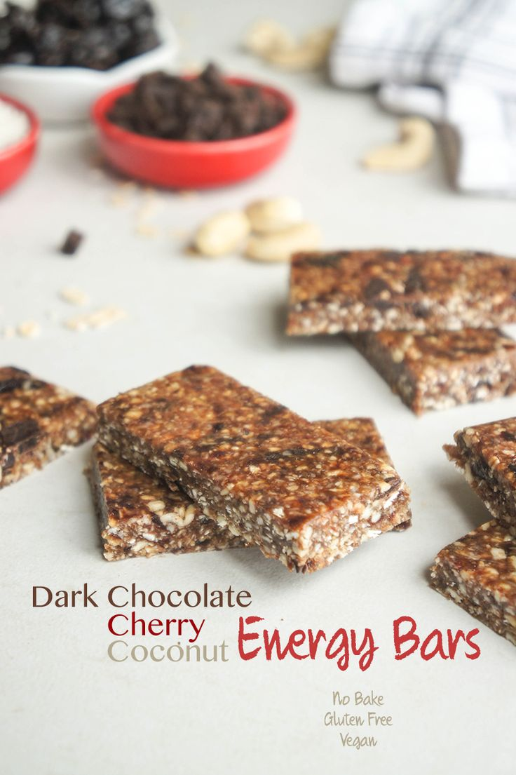 Ingredients in meta health bars - No Bake Dark Chocolate Cherry Coconut Energy Bars