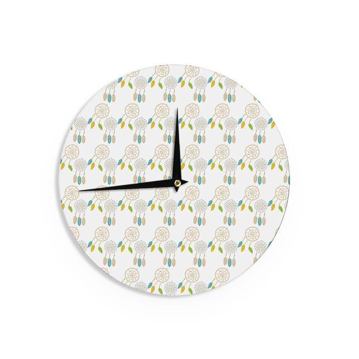 "Petit Griffin ""Dream Catchers"" Digital Beige Wall Clock"