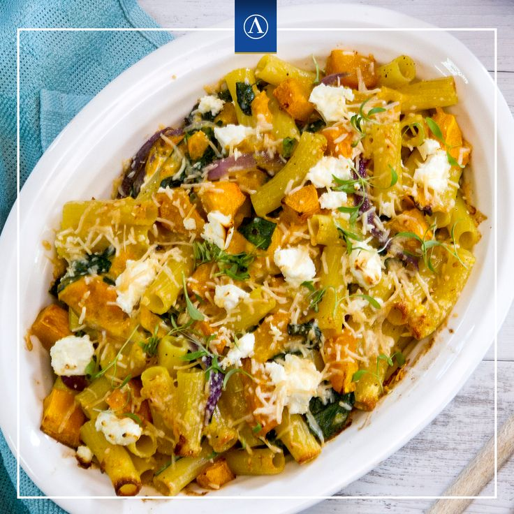 Baked Pumpkin and Fetta Pasta  #vegetarianrecipes #easyrecipes #Lemnos #Fetta #Haloumi #Mediterranean