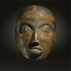 Early Haida Polychromed Wood Mask height 9 3/8 in. Estimate 100,000 — 150,000 USD