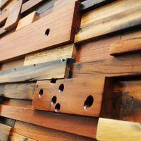 Метро деревянные стены плитки декоративные природного отверстия на панели мозаики лодку деревянный блокировки античная черный желтый 3d плитки