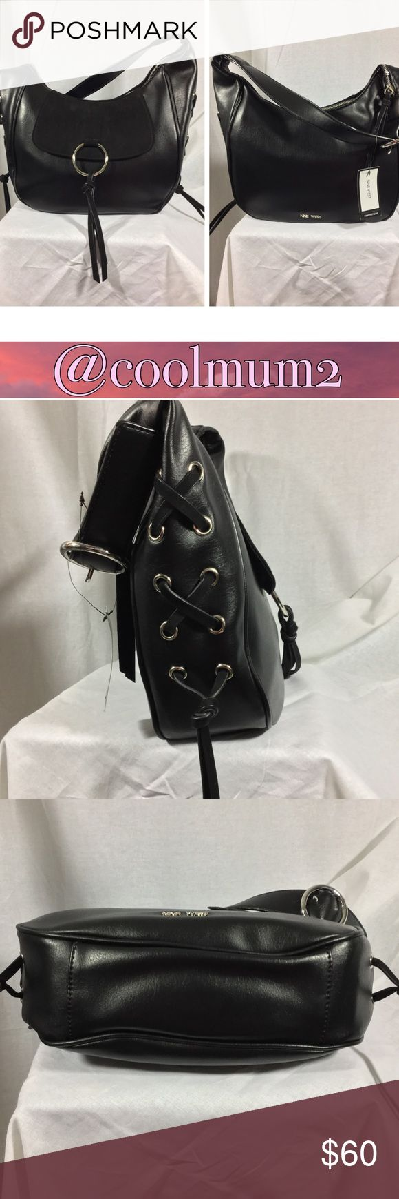 """🆕🌺Nine West Purse🌺 Nine West Purse NWT """"Ring Decoder"""" Style 12""""x4""""x9"""" 13"""" Handle Drop Faux Leather and Suede Small Pocket on Front of Outside (under faux suede flap) 1 Zip Pocket on Inside  2 Slip Pockets on Inside Silver Hardware Nine West Bags Hobos"""