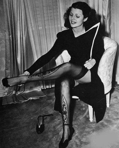 Rita Hayworth c. 1930's  (I love her stockings!!!)