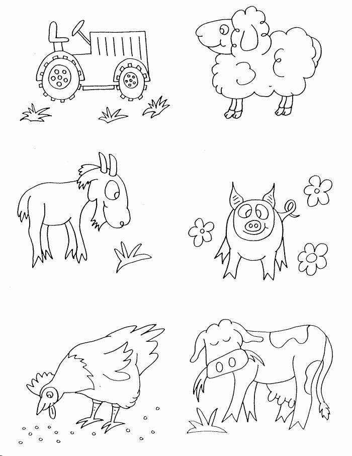 Farm Animal Coloring Pages Free Di 2020 Binatang Ternak Halaman Mewarnai Gambar Hewan