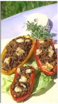 Minis poivrons farcis au quinoa : Etape 1