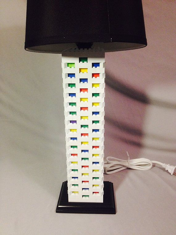 Lego Lamp White & Multicolor by LegoLamps on Etsy