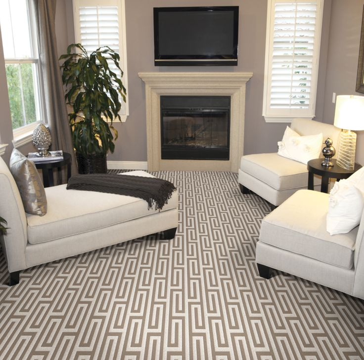 Small Living Space But Very Creative Design And Nourison Carpeting