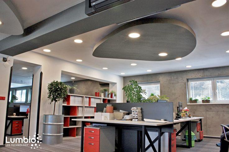 LED Downlights Lumbio Installed. Office lighting