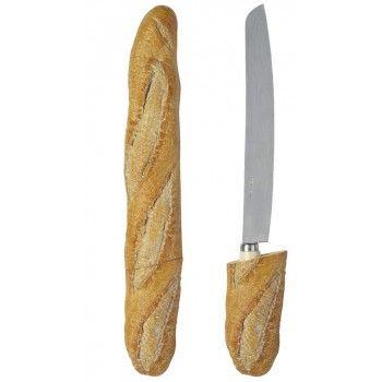 Couteau à pain forme Baguette  Beurrier La Vache Qui Rit  #artdelatable #cuisine #kitchen #decoration #ustensiles #table #baguette #pain #couteau