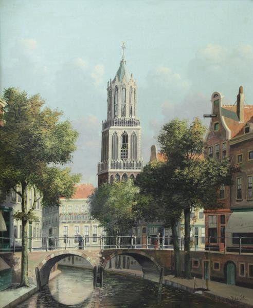 "Jacobus Lambertus Dispo, Sr. (Dutch, 1890-1964). ""Domtoren Utrecht"""