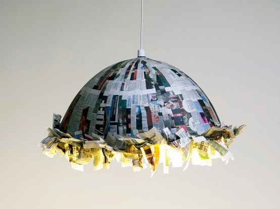 66 best paper mache lamps images on pinterest papier mache paper with this lamp designer jay watson have now always something to read at the table aloadofball Gallery