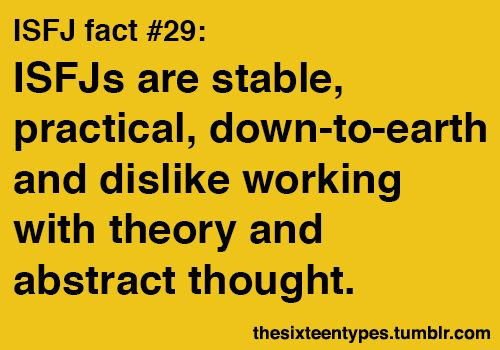 ISFJ fact #29