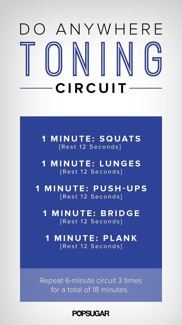 Printable Strength-Training Workout Under 20 Minutes | POPSUGAR Fitness