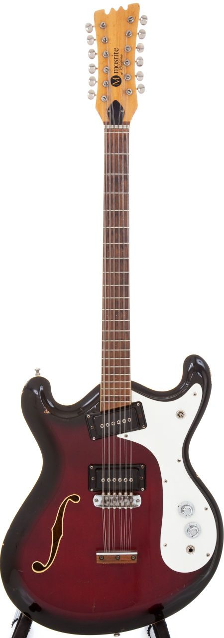 1960s Mosrite Combo Redburst 12-String Semi-Hollow Electric Guitar