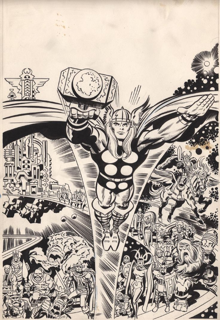 Thor by Jack Kirby and Frank Giacoia (Marvel)