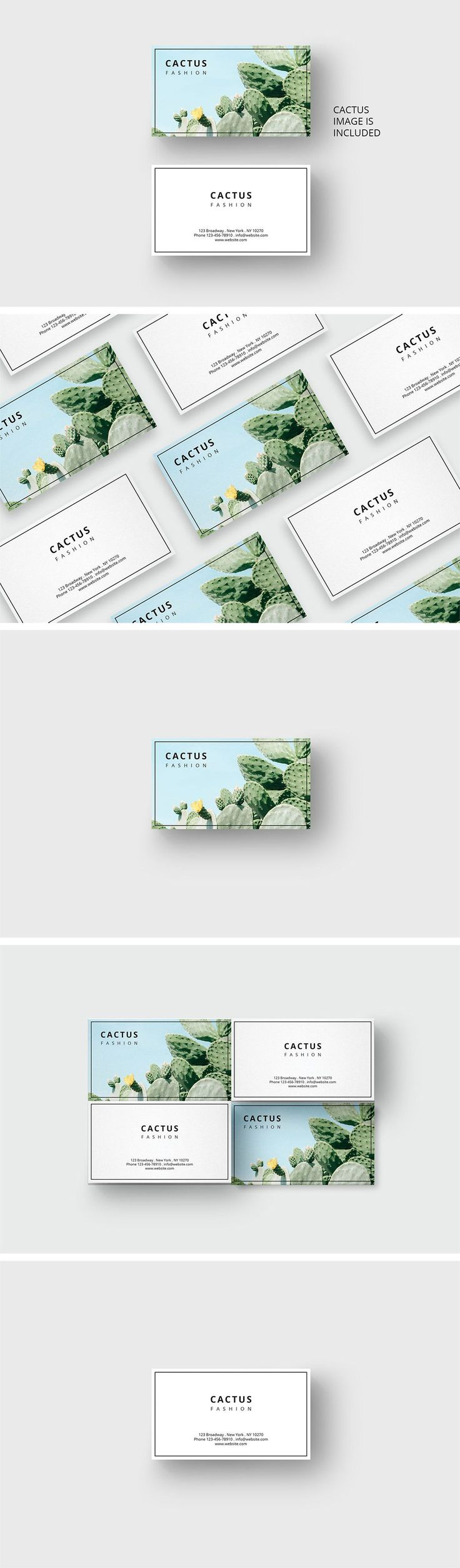 Cactus business card template by AgataCreate #ad #UniqueBusinessCards