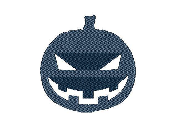 Halloween Pumpkin - Machine Embroidery Design - Instant Download - Three sizes