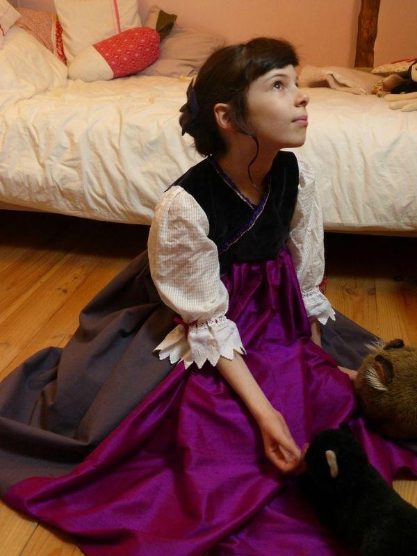 une robe de princesse (défi inside) déguisement petite fille, patron couture maison
