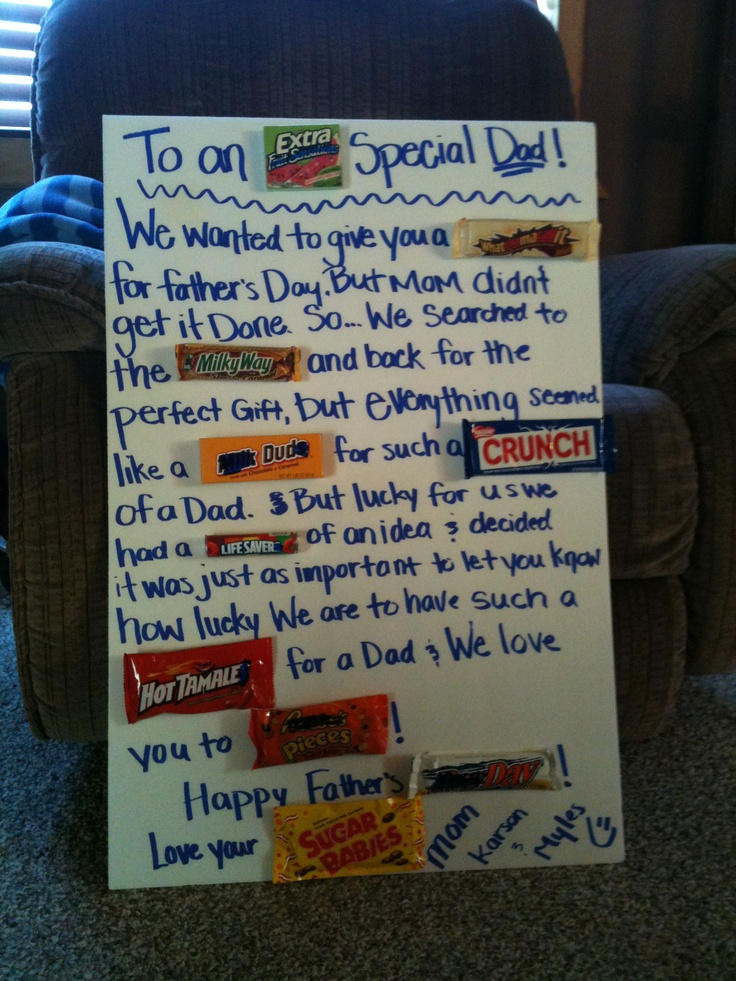Father S Day Candy Bar Poster Use Foam Board Instead