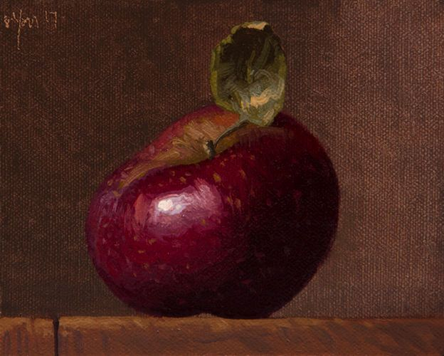 """Stayman Apple (literally vs. seriously)"" painting by Abbey Ryan #Realism"
