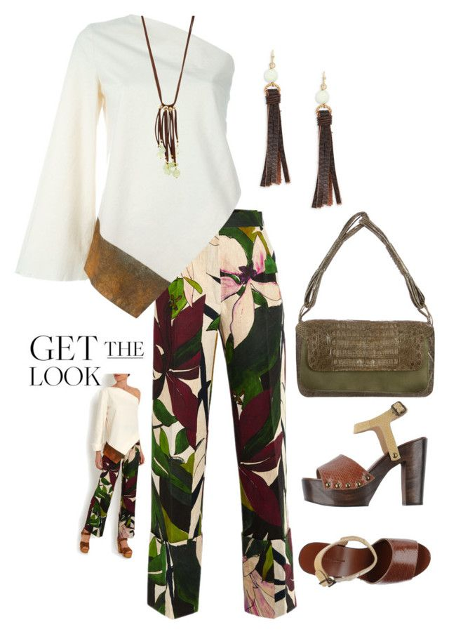 """""""Tropical Vibe"""" by easy-dressing ❤ liked on Polyvore featuring Erika Cavallini Semi-Couture, Nancy Gonzalez, Design Lab and NAKAMOL"""