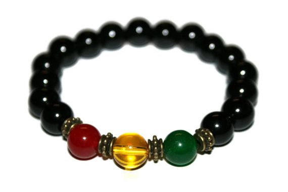 Jamaican Bracelet Island Jewelry Rasta Bracelet Rastafarian
