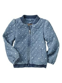 Quilted Dot Chambray Jacket Gap Kids Outfits Kids