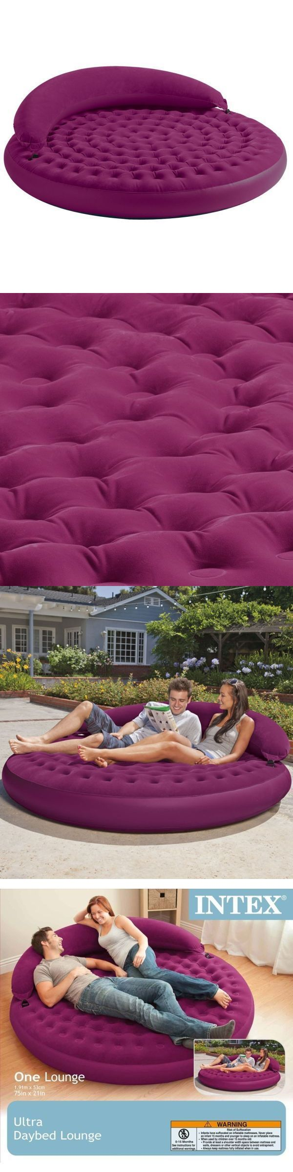 Inflatable Mattresses Airbeds 131598: Air Bed King Inflatable Mattress Queen Pool For Kids Chair Lounge Best Outdoor -> BUY IT NOW ONLY: $59.99 on eBay!