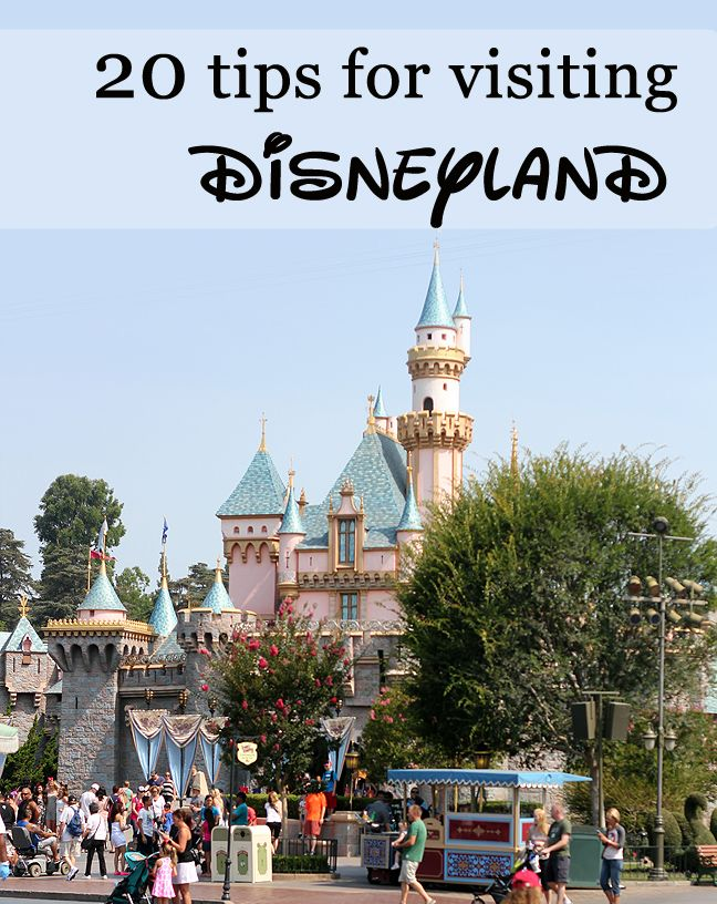 20 Tips for Visiting Disneyland: food, enjoying the park, photography, and staying healthy on vacation.