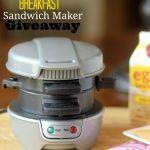 Hamilton Beach Breakfast Sandwich Maker Giveaway!!