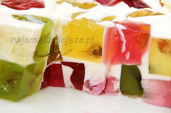 Milk dessert with jelly