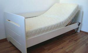 Łóżko drewniane Proste 90x200 sterowane pilotem białe boki wysokie