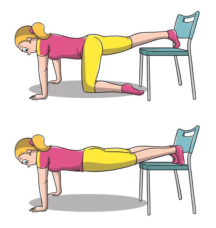 Come allenarsi con una sedia: esercizi addominali per avere una pancia non solo tonica. Esercizi addominali di auto coscienza per avere una pancia piatta.