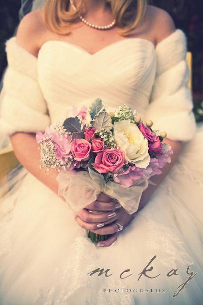 Beautiful winter wedding bouquet