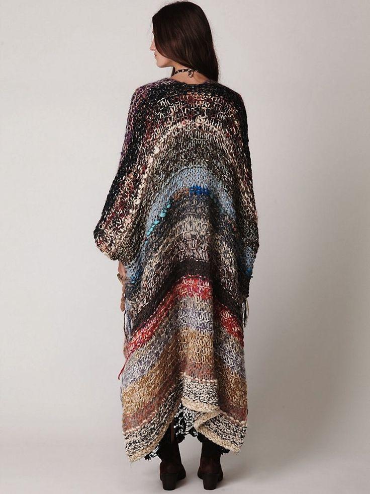 Knitting inspiration - multicolor hand spun yarns