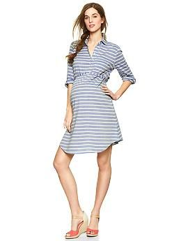 Striped shirtdress | Gap: Shirtdress Gap, Gap Maternity, Gap Stripes, Shirtdress Products, Baby Bump, Stripes Shirtdress, Baby Conel, Maternity Clothing, Maternity Dresses