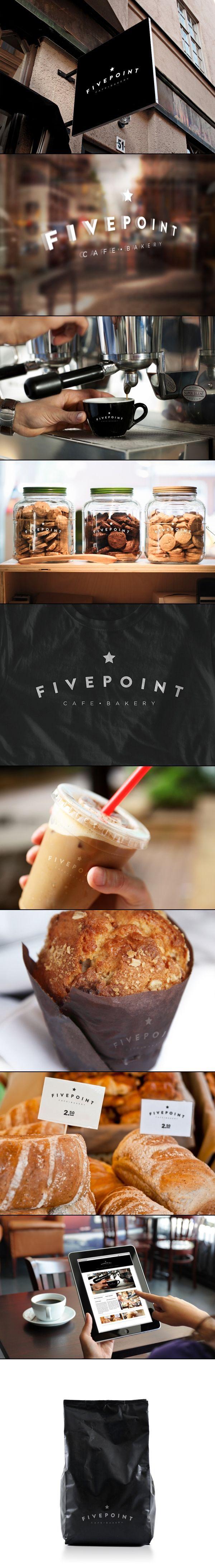 Fivepoint Cafe & Bakery | Matt Ivory. let's take a snack break #identity #packaging #branding PD