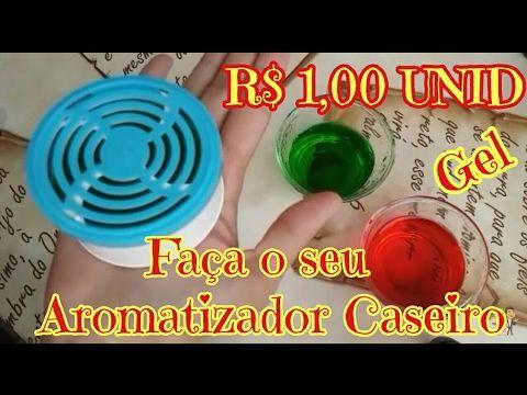 FAÇA POR 1,00 SEU AROMATIZADOR EM GEL CASEIRO - YouTube
