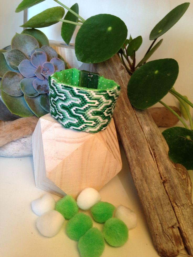 """Manchette """"Green Detox"""" E.Made : HandMade By Elise www.emade.bigcartel.com"""
