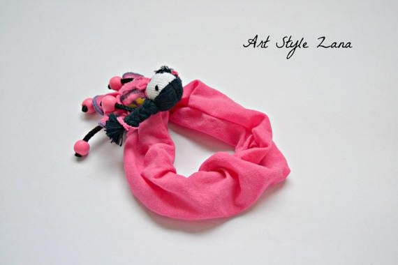 Pink Scrunchies, Scrunchies pink doll one of a kind, Simple art doll hair band, Handmade scrunchies hair tie, Ponytail Holder, Hair Fashion