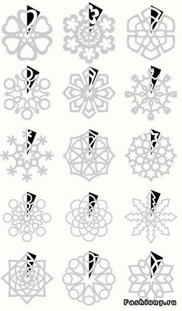 Simple snowflakes