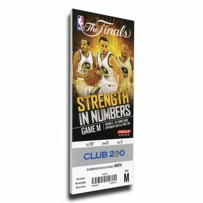 Golden State Warriors Personalized 2015 NBA Finals Game 1 Canvas Mega Ticket