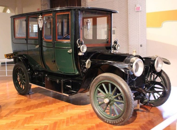 """1912 Rambler Knickerbocker Limousine - The Rambler name was first used on an automobile in 1897 and continued with various manufacturers until 1969 under American Motors. This  car weighed 4,000 pounds and carried seven passengers """"in luxurious, spacious comfort."""" It had a 32-horsepower engine with four cylinders as well as """"electric cigar lighter, bouquet holder, silk hat rack, umbrella holder, toilet case, card and cigar cases, clock, whisk broom and holder and megaphone chauffeur signal."""""""