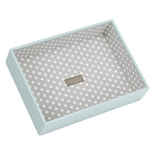 STACKERS 'CLASSIC SIZE' Duck Egg Blue Deep Open Section STACKER Jewellery Box with Grey PolkaDot Lining., http://www.amazon.co.uk/dp/B004Y04QFW/ref=cm_sw_r_pi_awdl_0I1sxb2ED9XX3