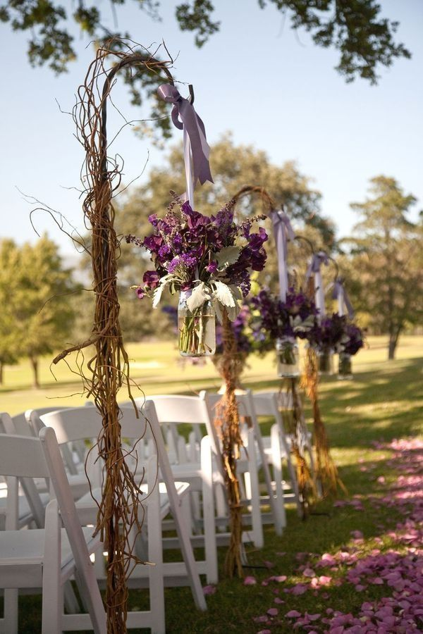 Wedding Flowers On Shepherds Hooks : Grapevine wedding decorations covered shepard