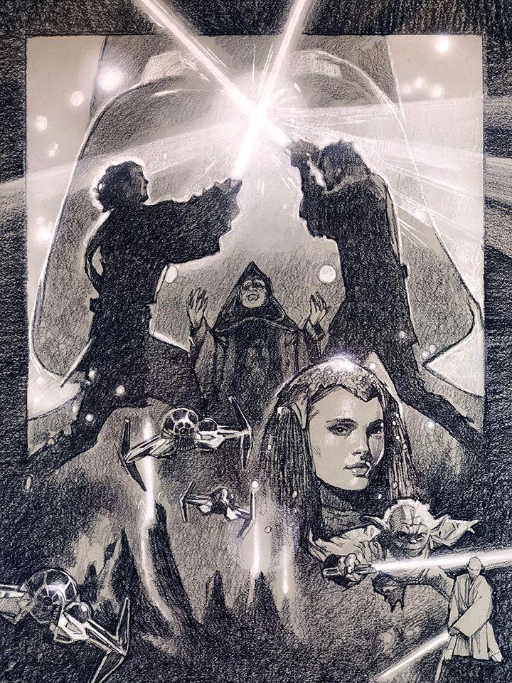 Star Wars Revenge Of The Sith Galactic Gallery Illustration Movie Art Artist Inspiration