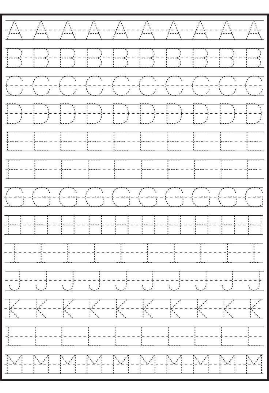 tracing alphabet for writing practice kids activity alphabet pinterest worksheets letter. Black Bedroom Furniture Sets. Home Design Ideas