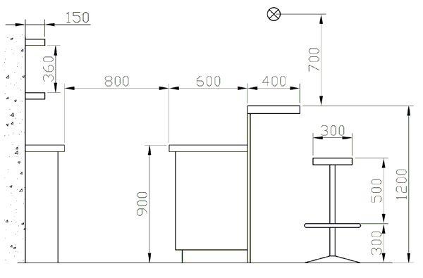 Барная стойка своими руками на кухне: различные конструкции